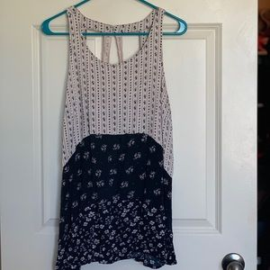 Black and white tank; Maurice's; Plus size 2x